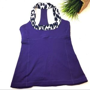 LULULEMON ATL Concord Grape/Ikat Scoop Neck Tank.